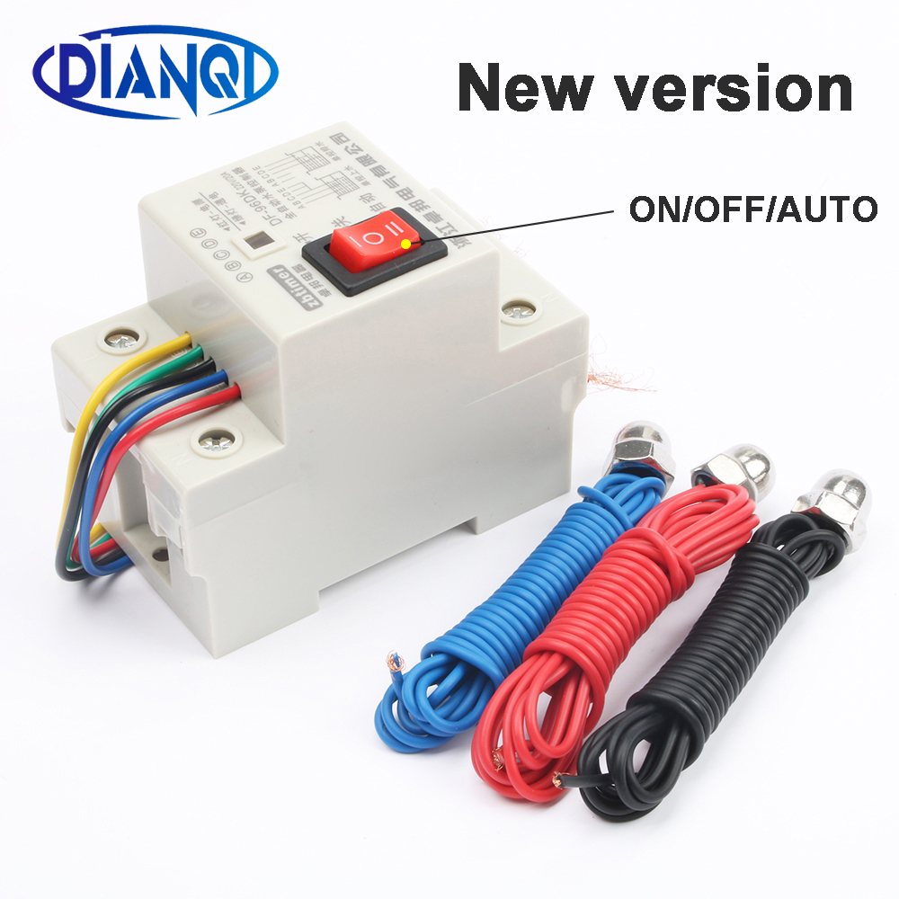 DF-96D DF96D automatic water level controller Pump Controller Cistern Automatic Liquid Switch 220V Din Rail water level controlDF-96D DF96D automatic water level controller Pump Controller Cistern Automatic Liquid Switch 220V Din Rail water level control
