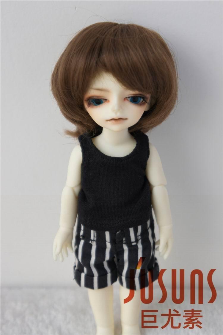 JD019 1/12 1/8 populaire garçon coupe courte perruque de poupée BJD - Poupées et accessoires - Photo 3