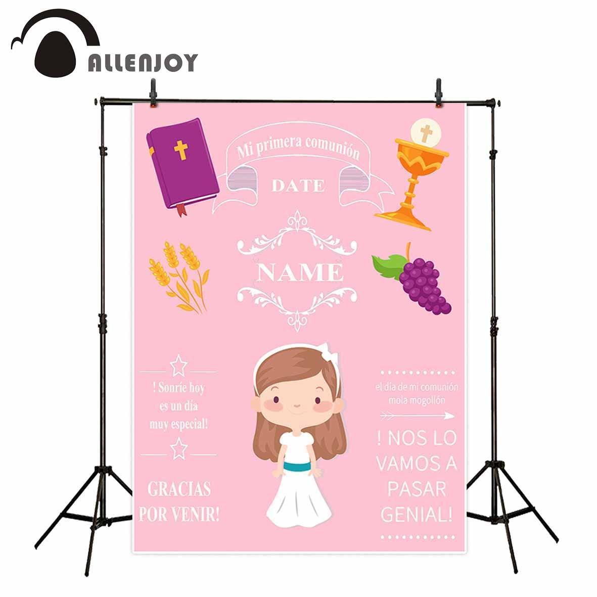 Allenjoy Comunione sfondo della ragazza rosa sfondo personalizzato foto sfondi per foto in studio sfondo per la fotografiaAllenjoy Comunione sfondo della ragazza rosa sfondo personalizzato foto sfondi per foto in studio sfondo per la fotografia