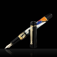 Picasso 90 Women and Flowers 14K Gold Nib Fountain Pen Bright Color with Original Gift Box for Writing Gift Collection picasso pen true men and women dedicated black gold fountain pen 902 gift