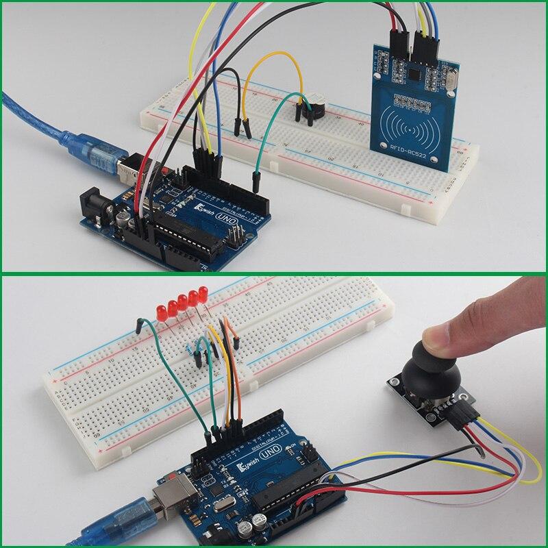 Keywish Kit de démarrage Super capteur complet RFID pour Arduino UNO R3 servomoteur/moteur pas à pas à niveau d'eau avec 28 leçons tutoriel de Code - 4