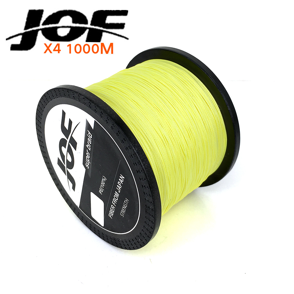 Jof brand best quality 1000m multifilament braided fishing for 20 lb braided fishing line