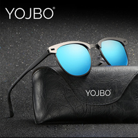 YOJBO Women Sunglasses Polarized Cat Eye 2017 Fashion Retro Mirror Men Vintage Luxury Brand Designer Clear