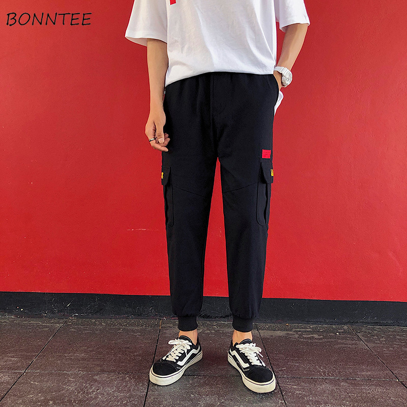 Pants Men Ankle-length High Quality Hot Sale All-match Loose Mens Korean Style Leisure Sweatpants Males Ulzzang Trousers Chic(China)