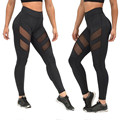 Feitong Brand harajuku leggings for women mesh splice fitness slim black legging pants plus size sportswear clothes 2017 leggins