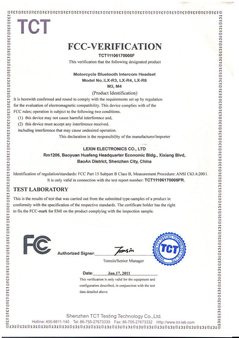 FCC forR6