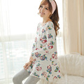 2017 Spring Floral Women Pajamas Sets Round Neck Fashion Pyjama Licorne Long Sleeve Silk Unicorn Pyjamas Female Sleepwear M~XL
