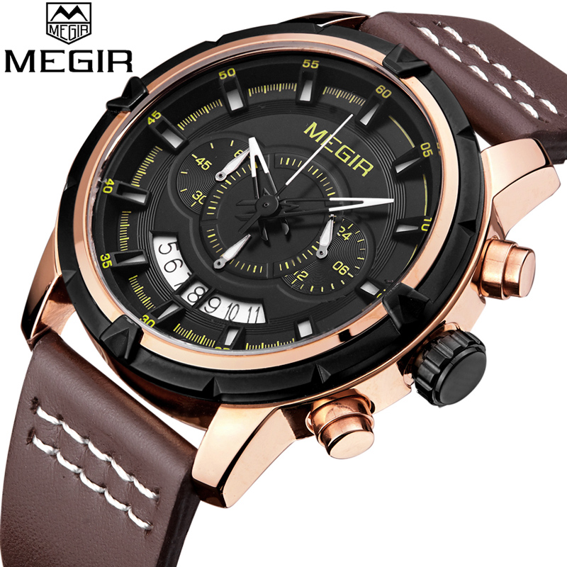 2018 MIGIR Brand Men Watches Mens Multifunction Quartz Watch Man Casual Sport Military Clock Male Wristwatch Relogio Masculino high quality mens business quartz watch men sport military watch pu leather strap army wristwatch male casual clock hour relogio