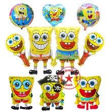 birthday balloons spongebob party supplies ballon balon baby decor children decoration helium