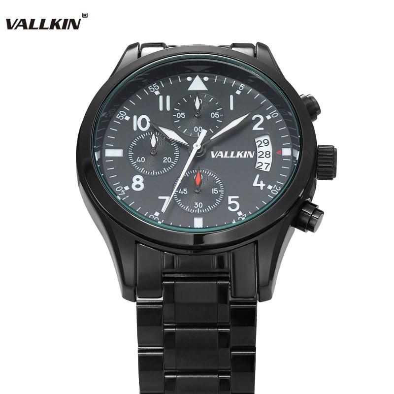 Mens de lujo negro relojes de pulsera masculina relojes de cuarzo - Relojes para hombres - foto 2