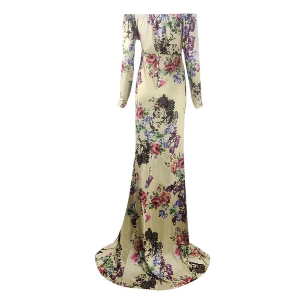 feb9b16d36 Womens Ruched Maternity Maxi Dress