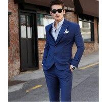 The Groom Dress Custom Royal Blue Show Thin Three Piece Best Man Suit Man Suit