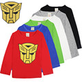 Crianças Camisetas Crianças T Shirt do Menino Dos Desenhos Animados Tops E T-shirt Do Bebê Manga Longa Camiseta Criança Primavera Roupas de Super-heróis de Transformadores