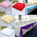1.4 m de la Tabla Del Organza Banquete Del Banquete de Boda Runners Decoración Del Arco de 6 Colores Decoración de La Boda Casamento E5M1