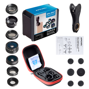Image 5 - APEXEL 7 in 1 Kit Lens For Phone Fish eye lens Wide Angle macro Lens CPL Kaleidoscope zoom Lens for iPhone samsung xiaomi Phone
