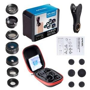 Image 5 - APEXEL 7 trong 1 Ống Kính Kit Cho Điện Thoại Cá mắt ống kính Góc Rộng Ống Kính macro CPL Kính Vạn Hoa Ống Kính zoom cho iPhone samsung xiaomi Điện Thoại