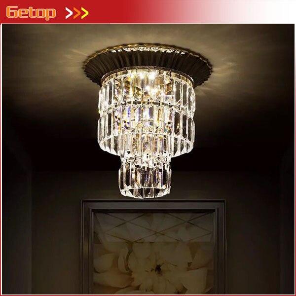 Moderno led soffitto di cristallo lampada lampadario tondo for Apparecchi di illuminazione per bungalow