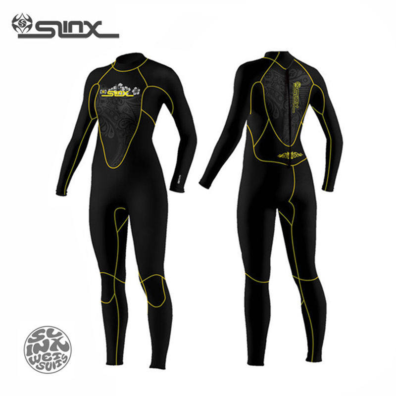 Women 5MM Neoprene One-piece Fleece Lining warm Wetsuit Winter Swim Surf Snorkeling Spearfishing Frogman Scuba Dive Wet Suit hisea 5mm neoprene wetsuit men scuba diving suit fleece lining warm snorkeling kite surfing spearfishing swim suit