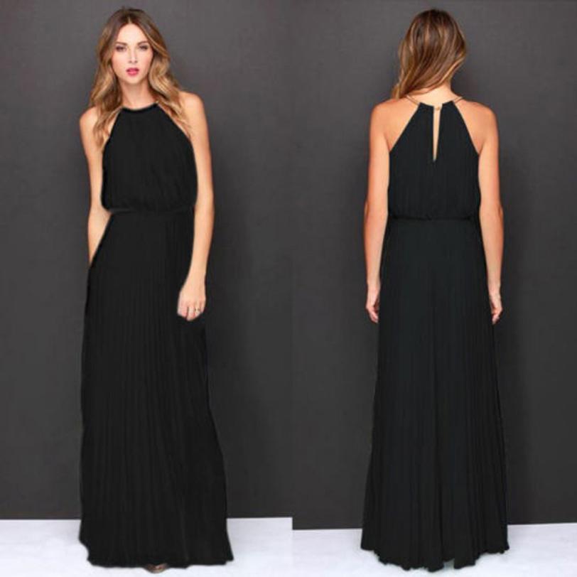 KANCOOLD kleid mode Für Frauen Formal Chiffon-Sleeveless Halter Kleid Prom Abend Party Lange Maxi kleid frauen 2018jul20