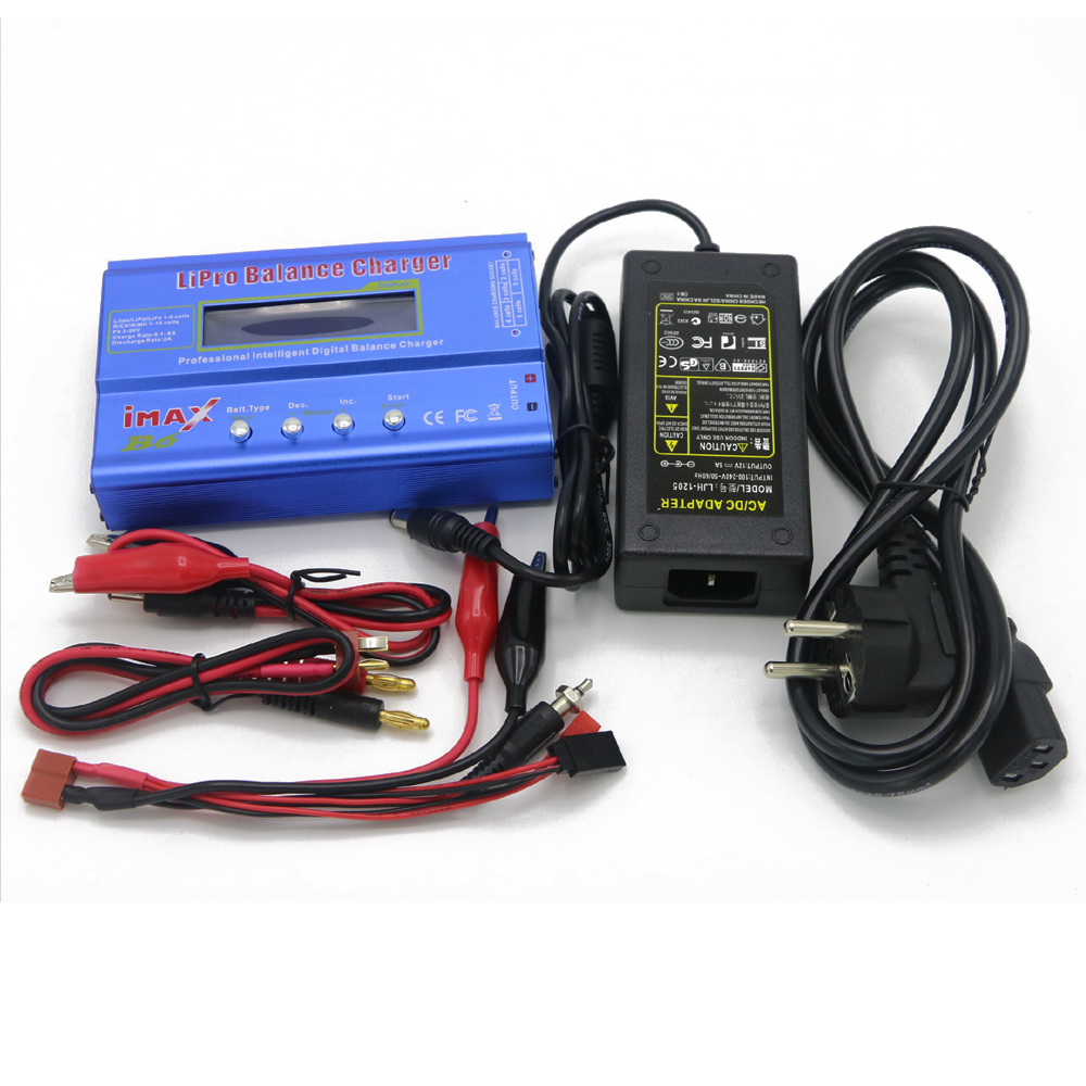 IMAX B6 Digital RC Lipo NiMh Battery Balance Charger+AC POWER 12v 5A Adapter Drop free shipping