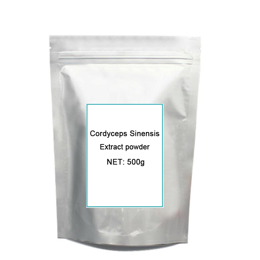 O envio gratuito de 500g de alta potência cordyceps extrato/Cordyceps sinensis/chinês lagarta fungo extrato