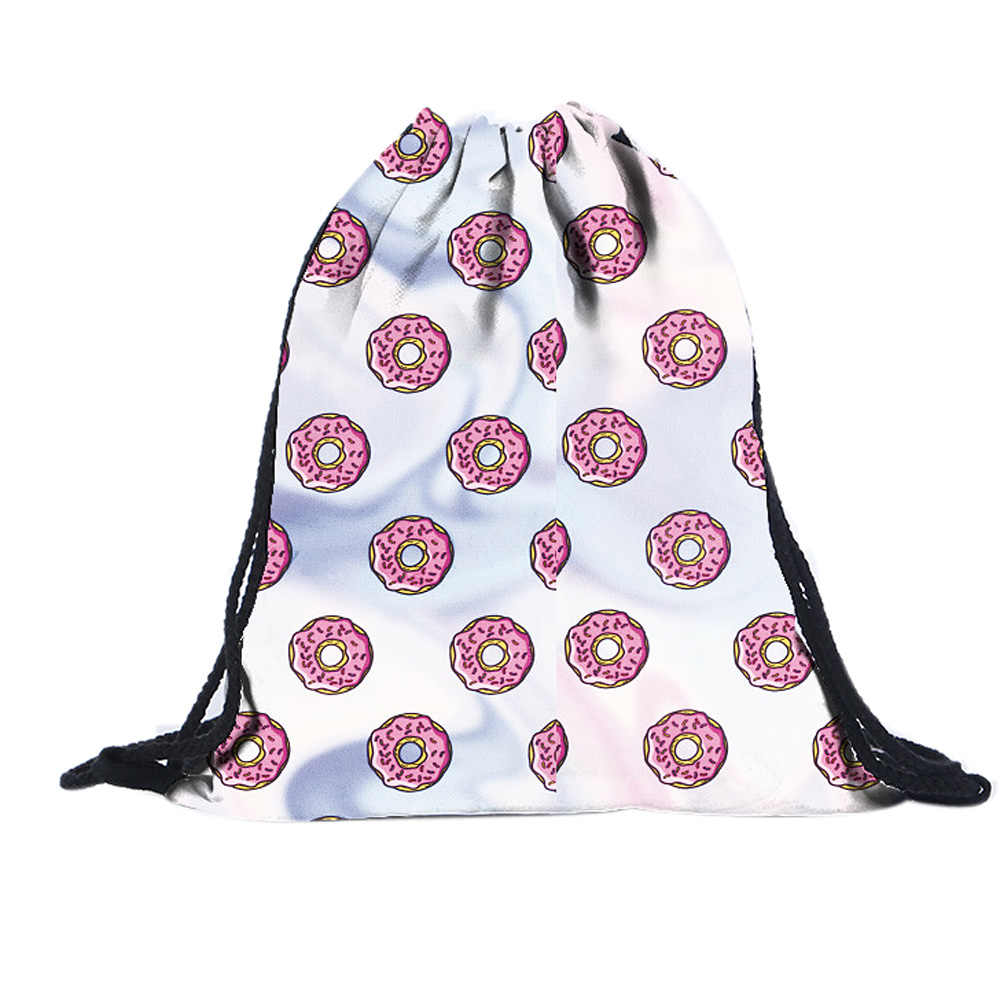 6f4e63a4d Women's Stripes Printed Canvas Drawstring Backpack Girl's Middle School  Mochila Feminina Travel Cord Rope Rucksack