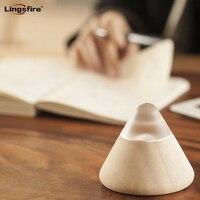 Volcano Sharp Design Smart Night Light USB LED Wooden Night Light Energy Saving Table Lamp Children