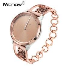 נשים תכשיטי רצועת השעון עבור Garmin Vivomove HR/3/Venu/לוקס/סגנון שעון להקת שחרור מהיר נירוסטה פלדת רצועת צמיד