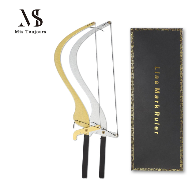 Microblading Line Marker Ruler For Eyebrows Tattoo Measuring Permanent Makeup Brows Measure Tool with Thread