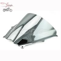 Motocicleta Chrome Windscreen Windshield Tela De Vento Para Suzuki GSXR1000 GSX-R 1000 K7 07-08