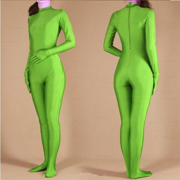 (swh009) Groene Spandex Zentai Full Body Huid Strakke Jumpsuit Zentai Pak Bodysuit Kostuum Voor Vrouwen/mannen Unitard Lycra Dancewear Geselecteerd Materiaal