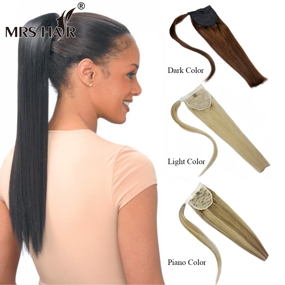 Excellent Aliexpress Com Buy Virgin Human Hair Ponytail Extensions 18 22 Hairstyle Inspiration Daily Dogsangcom