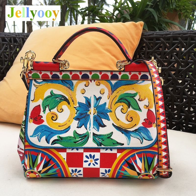 Italian Romantic Baroque Style Female Bag Famous Designer Shoudler Bag Handbag Luxury Brand Totes Print Crossbody Bags for Women italian romantic baroque style female bag famous designer shoudler bag handbag luxury brand totes print crossbody bags for women