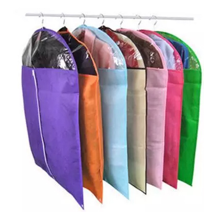 Home Essentials Non Woven Fabric Dustproof Clothing Bags Storage Cover Clear Window 3 Sizes 7 Colors Available 5pcs Lot In From