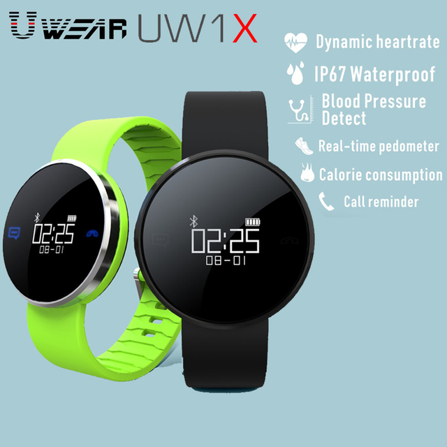 Waterproof UW1X Smart Band Heart Rate Monitor Smart Bracelet Wireless Fitness Tracker Blood Pressure Smart Band For Android iSO