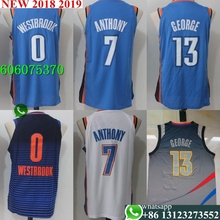 b5fd94002fe8 Free shipping A+++ quality Mens Adult  0 Russell Westbrook 7 Russell  Westbrook 13 Paul George Jersey Oklahoma City
