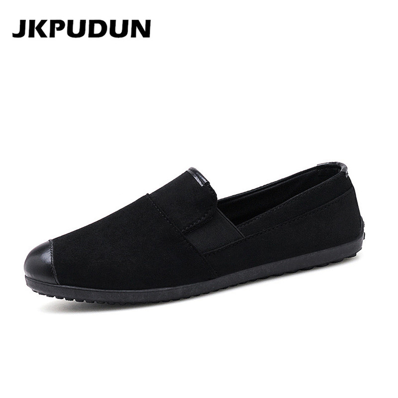 JKPUDUN Summer Mens Shoes Casual Leather Luxury Brand 2018