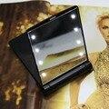 Hot Belleza Maquillaje del Acuerdo Cosmético del Bolsillo Plegable Espejo con 8 Lámparas de Las Luces LED