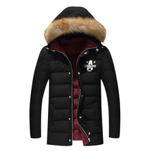 2017 Winter Warm Casual Padded Jacket Men hooded Parka Coat Thick Outwear Plus Size M-4XL long Jacket Brand New Male Clothing