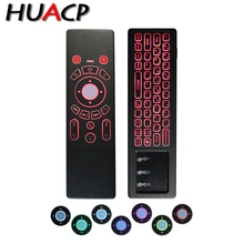 лучшая цена Huacp wireless Fly Air Mouse keyboard T6 Plus x88 Backlight touchpad IR Universal Remote Control for usb Android SetTop TV Box