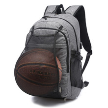 Basketball Backpack With the USB Cable Outdoor Bags Gray Black Canvas 30*15*48cm Sport Bag unisex Entertainment
