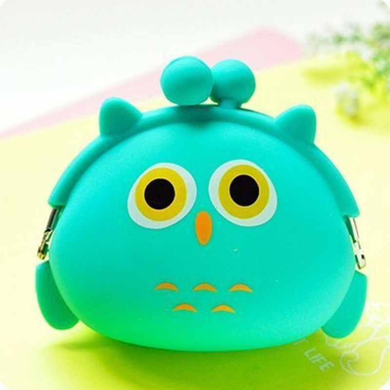 656f0b1ee4 Women Cheapest Soft Silicone Cute Cartoon Small Hasp Coin Purse Silica Gel  Little Pouch Kawaii Money Bag
