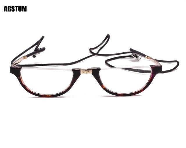 c847872310d Agstum Free shipping Half Moon Mens Women Wrap Neck Round Foldable Eyewear  Eyeglasses Reading Glasses