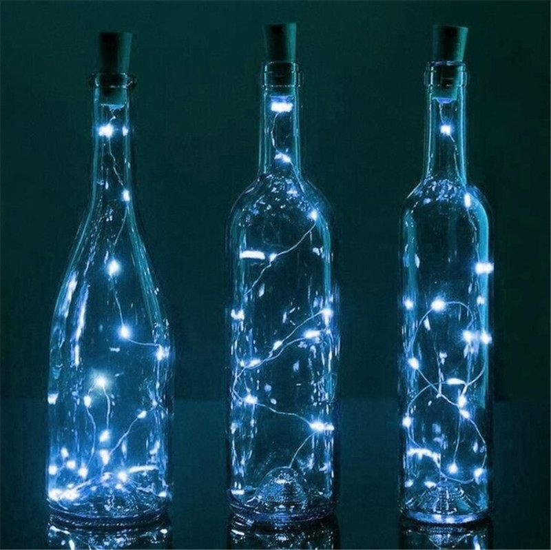 Wine Bottle Cork Lights Copper Wire String Lights for Wedding Festival Party Decor 3