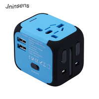 Hot New Universal International Plug Adapter 2 USB Port World Travel AC Power Charger Adaptor With