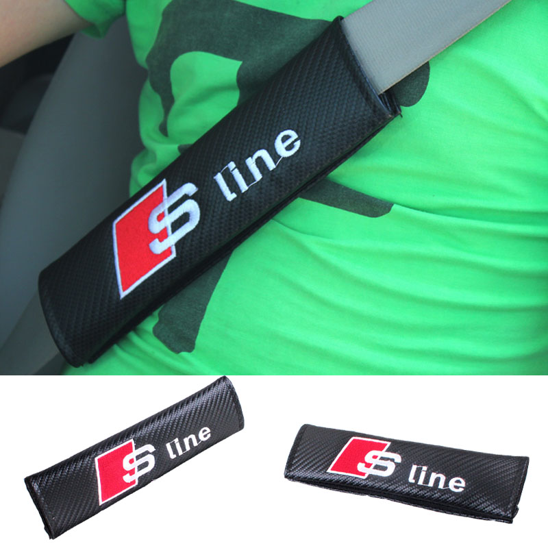 2x car safety belt adjust device baby child safety belt protector for Audi A3 A4 A5 A6 A7 A8 R8 Q5 Q7 TT S line