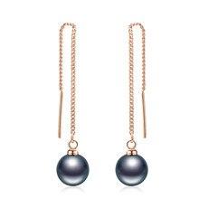 PISSENLIT Drop Earrings Long Gold Silver Earring Charm Women Jewelry Ear Line pendientes mujer moda 2019 Pearl Hot Gift