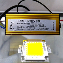 YNL Real High Power 50W 30W 20W 10W COB LED Integrated Chip Lamp chips & Driver Set High Brightness For LED Flood light(China)