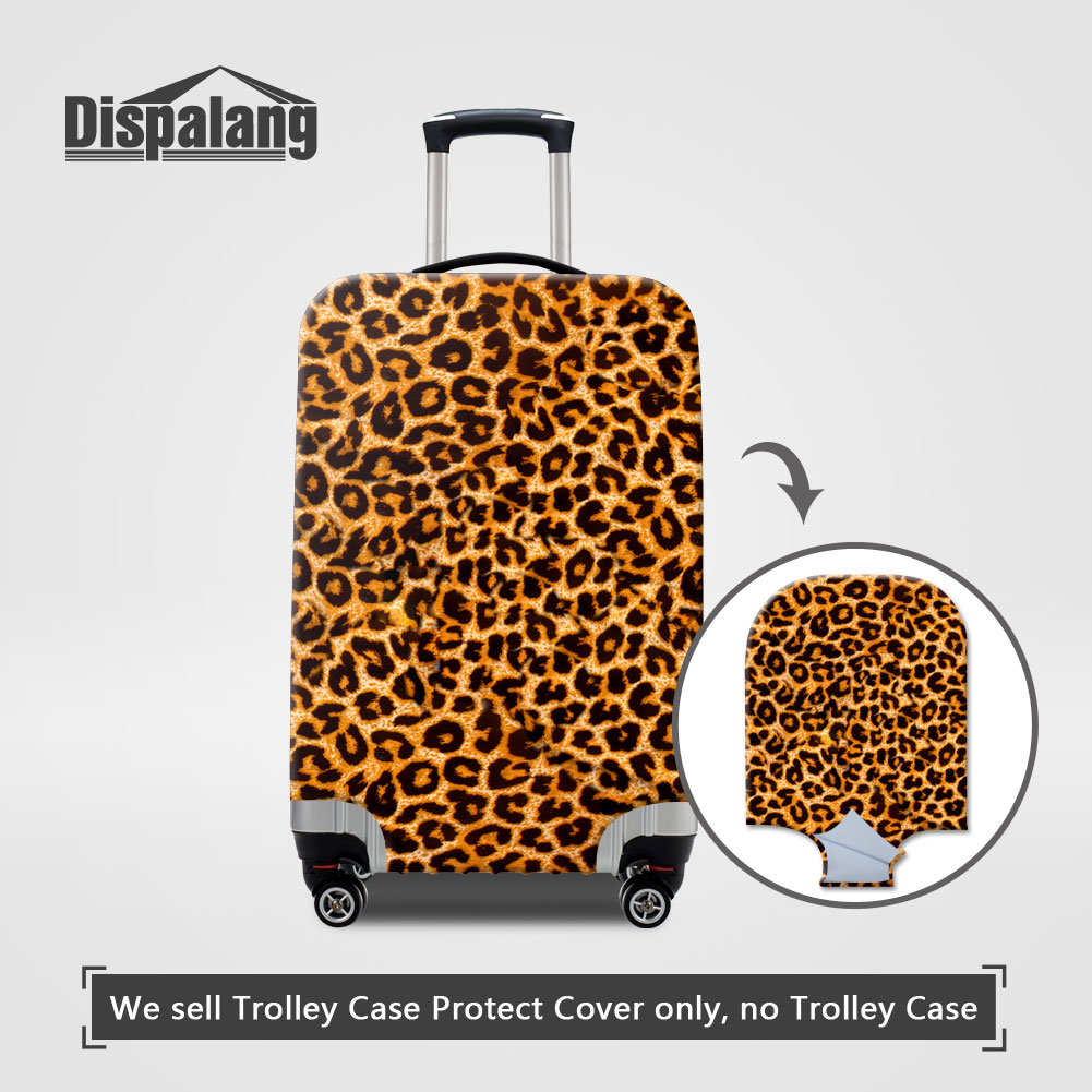 Travel Luggage Cover Suitcase Protector Fits 18-32 Inch Luggage Blue Leopards In Woods