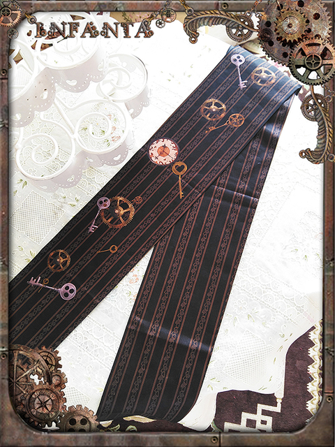 Infanta Marca Steampunk Engrenagem Impresso Lolita Collants Meia-calça Grossa
